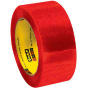 """3M™ Scotch® 3199 Security Tape 2"""" x 110 Yds. 2 Mil Clear/Red - Pkg Qty 6"""