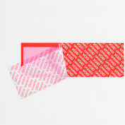"Tape Logic® Security Strips on a Roll 2"" x 5-3/4"" 3.9 Mil Red, 330 Strips"