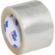 "Carton Sealing Tape 3"" x 55 Yds 3 Mil Clear - Pkg Qty 6"