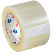 """Whisper Smooth Acrylic Carton Sealing Tape 3"""" x 125 Yds 2 Mil Clear  - Pkg Qty 6"""