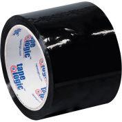 "Carton Sealing Tape 3"" x 55 Yds 2.2 Mil Black - Pkg Qty 6"