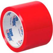 "Carton Sealing Tape 3"" x 55 Yds 2.2 Mil Red - Pkg Qty 6"