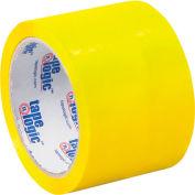 "Carton Sealing Tape 3"" x 55 Yds 2.2 Mil Yellow - Pkg Qty 6"