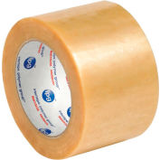"""Natural Rubber Carton Sealing Tape 3"""" x 110 Yds 2.2 Mil Clear - Pkg Qty 6"""