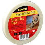 """3M™ Scotch® 893 Strapping Tape 1"""" x 60 Yds. 6.0 Mil Clear - Pkg Qty 6"""