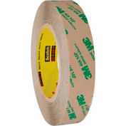 "3M 468MP Adhesive Transfer Tape Hand Rolls 1"" x 60 Yds 5 Mil Clear  - Pkg Qty 6"