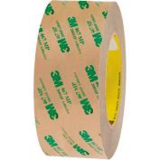 """3M 467MP Adhesive Transfer Tape Hand Rolls 2"""" x 60 Yds 2 Mil Clear  - Pkg Qty 6"""