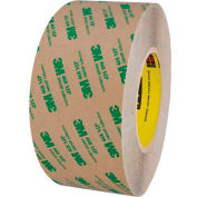 "3M 468MP Adhesive Transfer Tape Hand Rolls 3"" x 60 Yds 5 Mil Clear"