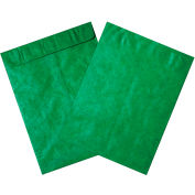 """Tyvek® Self-Seal Colored Envelopes, End Opening, 12"""" x 15-1/2"""", Green, 100 Pack"""