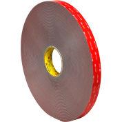 "3M 4991 Double Sided VHB Acrylic Foam Tape 1"" x 5 Yds 90 Mil Gray"
