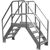 """Bustin 56""""H Standard Crossover, 24"""" Clear Span x 24"""" Wide, Diamond Tread - BE3004D"""