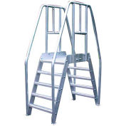 """Bustin 56""""H Spacesaver Crossover, 36"""" Clear Span x 24"""" Wide, Diamond Tread - BE3108D"""