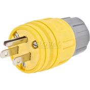 Bryant 14W47BRYBK Watertight Plug NEMA 5-15P, 15A/125V, BK
