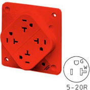 Bryant 21254R QUADPLEX®Receptacle / 20A / 125V / Red