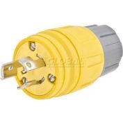 Bryant 24W34BRY Watertight Plug, NEMA L7-15P, 15A277VAC