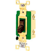 Bryant 3002BRN Industrial Grade Toggle Switch, 30A, 120/277V AC, Double Pole, Brown