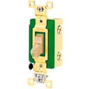 Bryant 3002I Industrial Grade Toggle Switch, 30A, 120/277V AC, Double Pole, Ivory