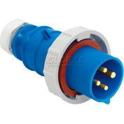 Bryant 330P6W Plug, 2 Pole, 3 Wire, 30A, 250V AC, Blue