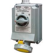 Bryant 330SMI4W Mechanically Interlocked, 2 Pole, 3 Wire, 30A, 125V AC, Yellow