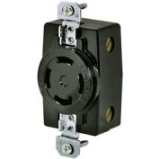 Bryant 3430G TECHSPEC® Receptacle, 3P4W, 20A, 3ph 250V AC, Black