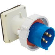 Bryant 363B6W Inlet, 2 Pole, 3 Wire, 63A, 200-250V AC, Blue