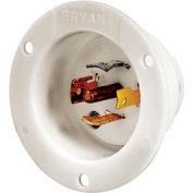 Bryant 40045MB TECHSPEC® Base, 20A, 3ph 120/208V AC 400Hz, White
