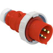 Bryant 420P7W Plug, 3 Pole, 4 Wire, 20A, 3ph 480V AC, Red