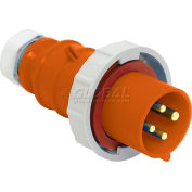 Bryant 460P12W Plug, 3 Pole, 4 Wire, 60A, 125/250V AC, Orange
