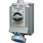 Bryant 460SMI9W Mechanically Interlocked, 3 Pole, 4 Wire, 60A, 3ph 250V AC, Blue