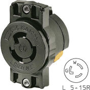 "Bryant 4712BRY TECHSPEC® Single Receptacle;194"" Ctr, L5-15R, 15A, 125V, Black"