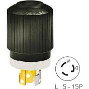 Bryant 4721NP TECHSPEC® Plug, L5-15, 15A, 125V, Black/White