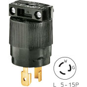 Bryant 4726BRY TECHSPEC® Plug, L5-15, 15A, 125V, Armored