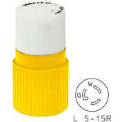 Bryant 4732NCCR TECHSPEC® Connector, L5-15, 15A, 125V, Yellow