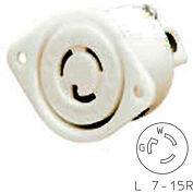 Bryant 4785ER TECHSPEC® Single Receptacle, L7-15, 15A, 277V AC, White