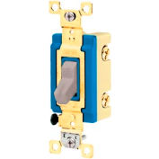 Bryant 4801GRY Industrial Grade Toggle Switch, Single Pole, 15A, 120/277V AC, Gray