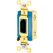 Bryant 4802L Industrial Grade Toggle, Double Pole, 15A, 120/277V AC, Locking