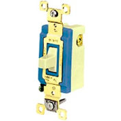 Bryant 4821I Industrial Grade Toggle, Single Pole, Double Throw, 15A, 120/277V AC, Momentary