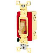 Bryant 4901BI Industrial Grade Toggle Switch, Single Pole, 20A, 120/277V AC, Ivory