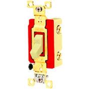 Bryant 4901GLI Toggle Switch, Single Pole, 20A, 120/277V AC, Glow Handle, Ivory
