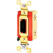 Bryant 4902L Industrial Grade Toggle Switch, Double Pole, 20A, 120/277V AC, Locking