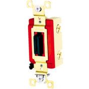 Bryant 4903L Industrial Grade Toggle Switch, Three Way, 20A, 120/277V AC, Locking