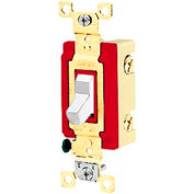 Bryant 4903W Industrial Grade Toggle Switch, Three Way, 20A, 120/277V AC, White