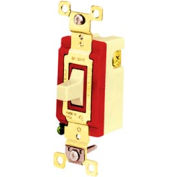 Bryant 4925I Toggle Switch, Double Pole, Double Throw, 20A, 120/277V AC, Ivory