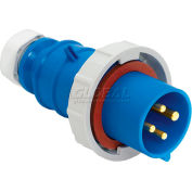 Bryant 530P9W Plug, 4 Pole, 5 Wire, 30A, 3ph Y 120/208V AC, Blue