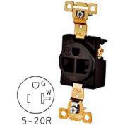 Bryant 5361BLK TECHSPEC® Industrial Grade Single Receptacle, 20A, 125V, Black