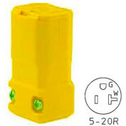 Bryant 5369BY TECHSPEC® Straight Blade Connector, 20A, 125V, Yellow