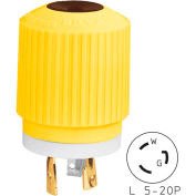 Bryant 70520NPCR TECHSPEC® Plug, L5-20, 20A, 125V, Yellow