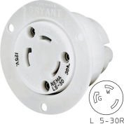 Bryant 70530ER TECHSPEC® Receptacle, L5-30, 30A, 125V, White