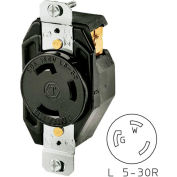 Bryant 70530FR TECHSPEC® Receptacle, L5-30, 30A, 125V, Black