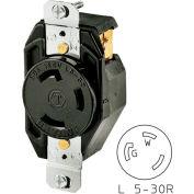 Bryant 70530FR TECHSPEC® Receptacle, L5-30, 30A, 125V, Black